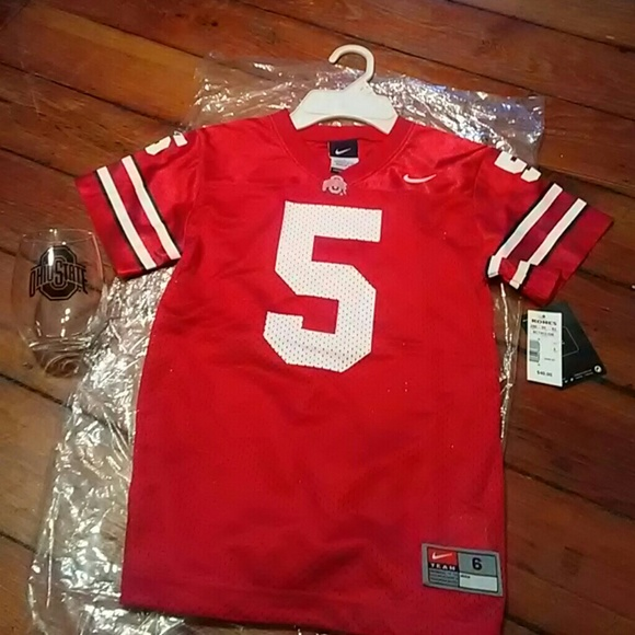 wholesale dealer 1ff66 55fbb Kids 6 ohio state football jersey Nike college NWT